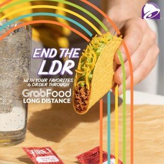 Longing for your Taco Bell favorites? Come on you deserve it! Grab and order your cravings through @grabfoodph Long Distance Delivery today.