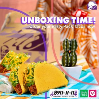 Time to #unbox the flavorful goodness of Taco Bell's Party Pack Tacos! Available in 6s and 9s.