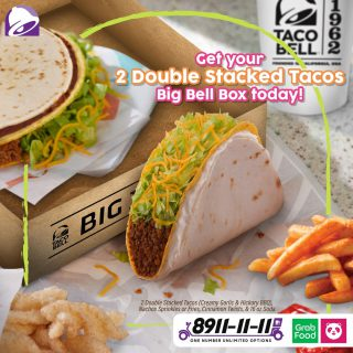 Nothing beats the double. 🌮🌮 Try Big Bell Box 2 Double Stacked Tacos today.