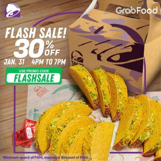 Exactly what you need! Order through @grabfoodph and enjoy 30% off for a limited time only. Grab your Taco Bell cravings now.